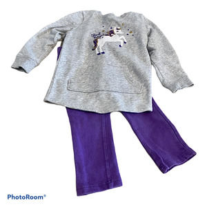 Jumping Beans 2T Outfit with Unicorn